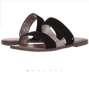 SAM EDELMAN Black Suede Gala Sandals